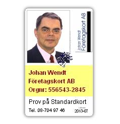 Lösenordsskyddad: Standardkort